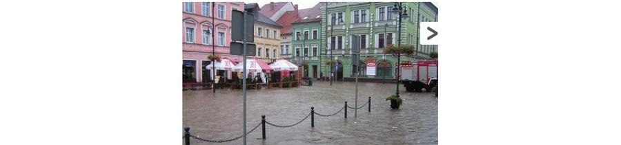 Overstroming in Lesna 2010